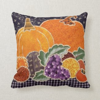 Thanksgiving Pumpkin and Friends Patchwork Throw Pillows