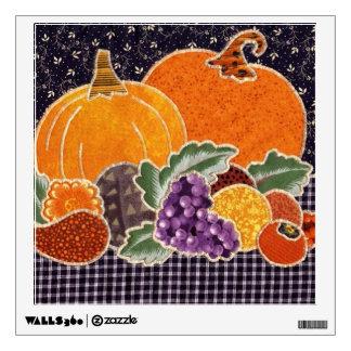 Thanksgiving Pumpkin and Friends Patchwork Wall Decals