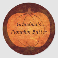 Thanksgiving pumpkin design classic round sticker