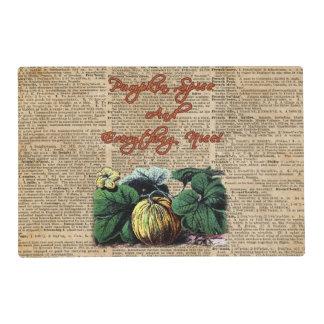 Thanksgiving Pumpkin Dictionary Art Placemat