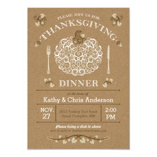 "Thanksgiving Pumpkin Invitation II 4.5"" X 6.25"" Invitation Card"