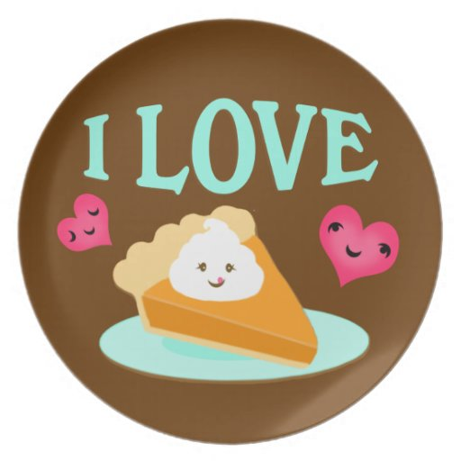 Thanksgiving Pumpkin Pie Love Plate
