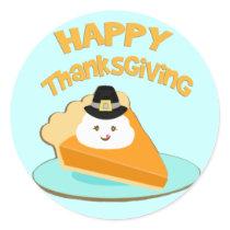 Thanksgiving Pumpkin  Pie Pilgrim Stickers