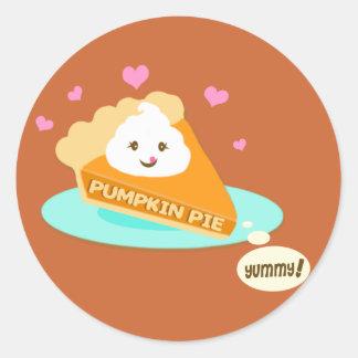 Thanksgiving Pumpkin  Pie  Stickers