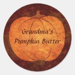 Thanksgiving pumpkin round stickers