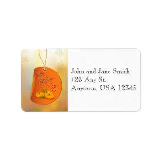 Thanksgiving Pumpkins Address Label