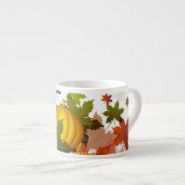 Thanksgiving Pumpkins Espresso Cup