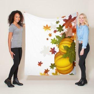 Thanksgiving Pumpkins Fleece Blanket