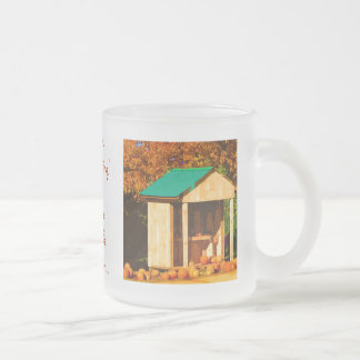 Thanksgiving Pumpkins Frosted Glass Coffee Mug