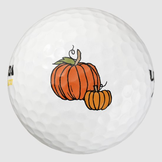 Thanksgiving Pumpkins Golf Balls