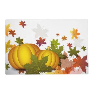 Thanksgiving Pumpkins Laminated Placemat