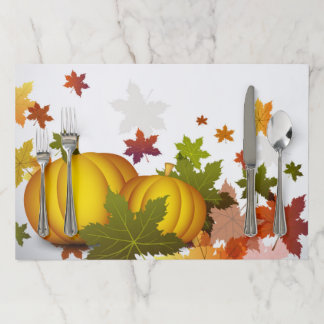 Thanksgiving Pumpkins Large Tearaway Placemat