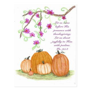 Thanksgiving Pumpkins Postcard at Zazzle