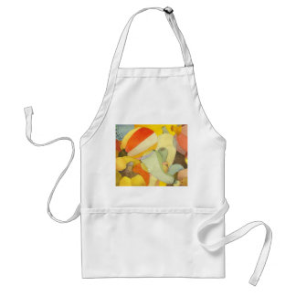 Thanksgiving Pumpkins Watercolor Painting Adult Apron