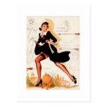 Thanksgiving Quaker Girl Pin Up Girl Post Cards