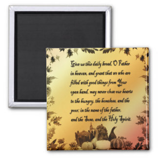 Thanksgiving Quote Refrigerator Magnet