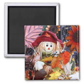 Thanksgiving Rag Doll Amongst Autumn Harvest Scene Magnet