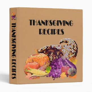 Thanksgiving Recipe Binder with Cornucopia