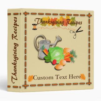 Thanksgiving Recipe Customize Binder