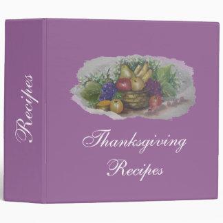 thanksgiving Recipes 3 Ring Binder