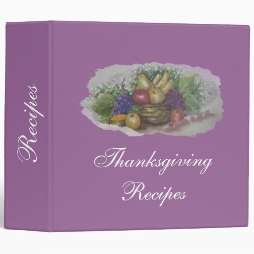 thanksgiving Recipes 3 Ring Binder
