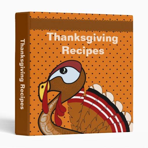 Thanksgiving Recipes Binder