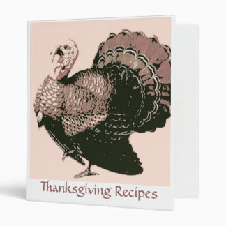 Thanksgiving Recipes 3 Ring Binders