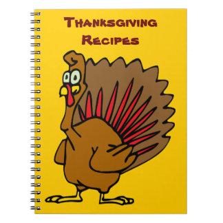 Thanksgiving Recipes Spiral Notebook