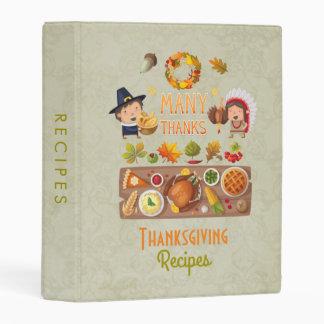 Thanksgiving Recipes Turkey Feast Illustration Mini Binder