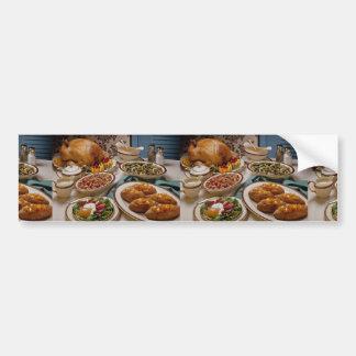 Thanksgiving roast turkey dinner car bumper sticker