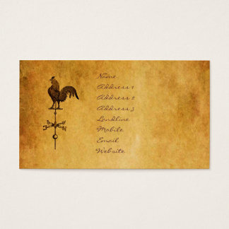 Thanksgiving Rooster Business Card