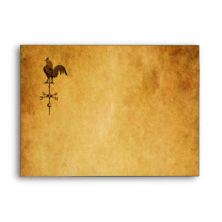 Thanksgiving Rooster Envelope