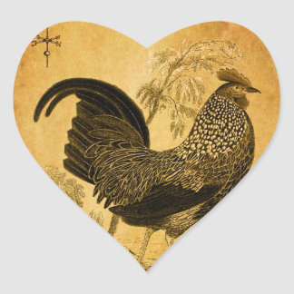 Thanksgiving Rooster Heart Stickers