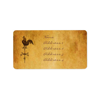 Thanksgiving Rooster Label