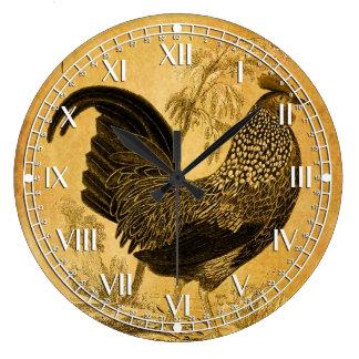 Thanksgiving Rooster Round Wallclock