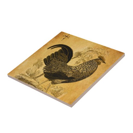 Thanksgiving Rooster Small Square Tile