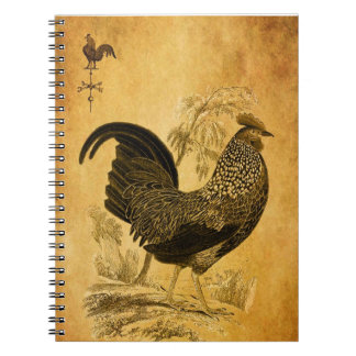 Thanksgiving Rooster Spiral Notebook