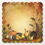"Thanksgiving Scalloped Square Paper Coaster<br><div class=""desc"">Thanksgiving Harvest</div>"