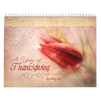 """Thanksgiving"" Scripture Christian Art Calendar"