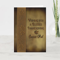 Thanksgiving Secret Pal - Leaves Holiday Card