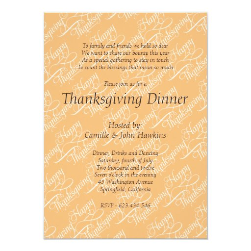 Thanksgiving simple elegant calligraphy card zazzle