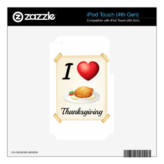 thanksgiving skins for iPod touch 4G