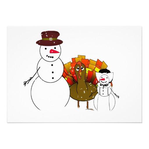 Thanksgiving Snowmen Announcement