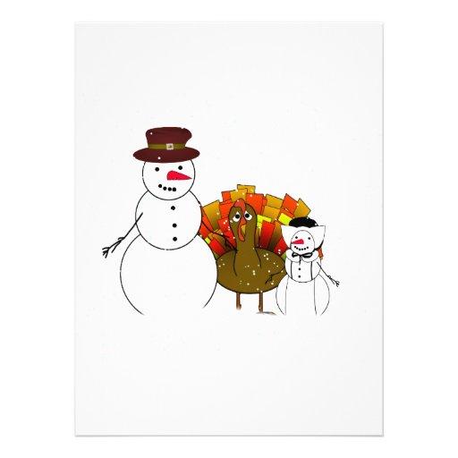 Thanksgiving Snowmen Announcements