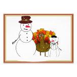 Thanksgiving Snowmen Invites