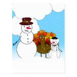 Thanksgiving Snowmen Postcard