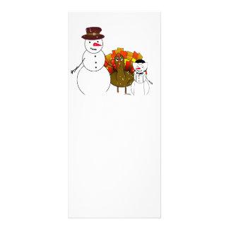 Thanksgiving Snowmen Rack Card Template
