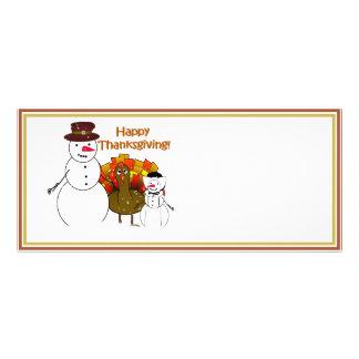 Thanksgiving Snowmen Rack Card Design