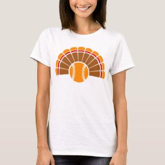 Thanksgiving Softball Turkey Tail T-Shirt