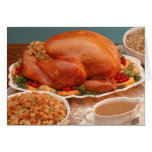 Thanksgiving spread greeting card
